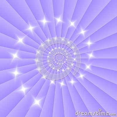 Galaxy in Blue