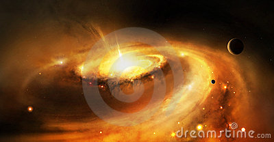 Galaxy core in space Stock Photo