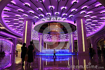 Galaxy macao main lobby Editorial Stock Image