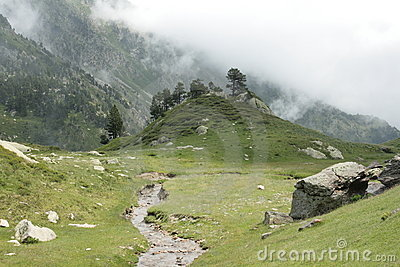 Galbe valley in Pyrenees