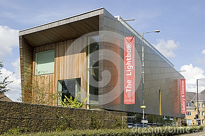 Galeria de arte de Lightbox, Woking Foto Editorial