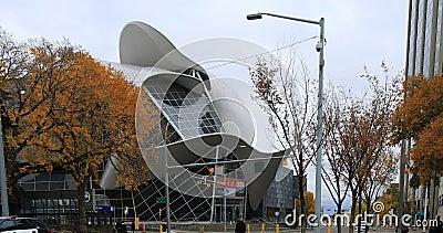 Galerie d'art à Edmonton, Canada 4K banque de vidéos