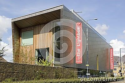 Galerie d art de Lightbox, Woking Photo éditorial