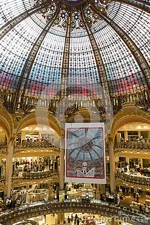 Galeries Lafayette Interior In Paris Editorial Image Image 52005100