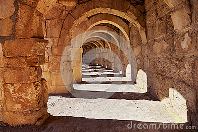 Galery at Aspendos in Antalya, Turkey