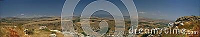 Galilee landscape panorama