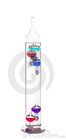 Free Galileo Thermometer Royalty Free Stock Image - 16855376