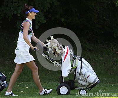 Galina Rotmistrova at the Fourqueux golf Ladies Open Editorial Stock Photo
