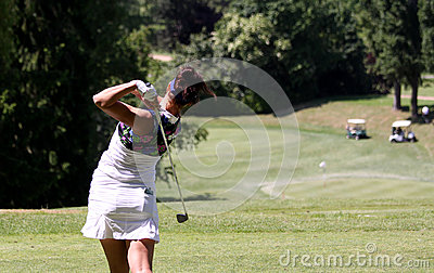 Galina Rotmistrova at the Fourqueux golf Ladies Open Editorial Stock Image