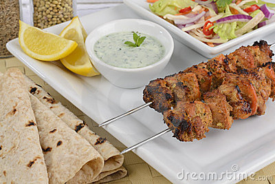 Galinha Tikka Kebab