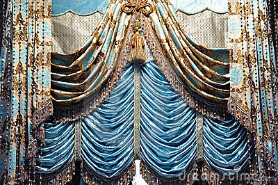 Gallant curtain with decoration