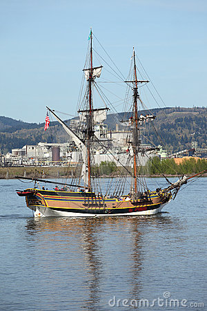 Galleon sailing in the Columbia river OR.