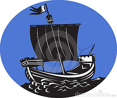 Galleon tall ship sailing sea