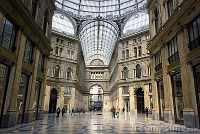 Galleria Umberto I, Naples Editorial Photography