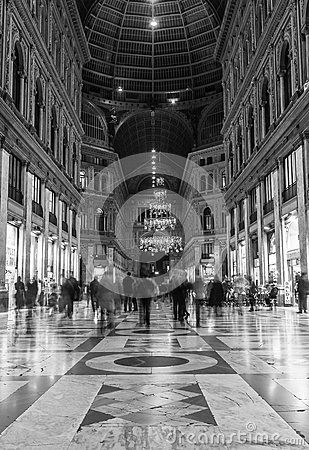 Galleria umberto naples Editorial Photography