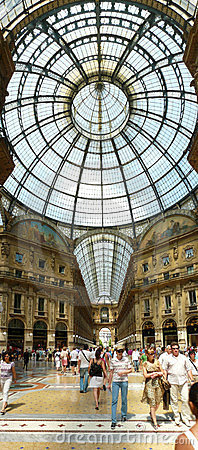 Galleria Vittorio Emanuele II Editorial Photo