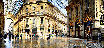 Galleria Vittorio Emanuele II from inside the arca Editorial Photo