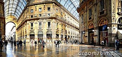 Galleria Vittorio Emanuele II from inside the arca Editorial Photo