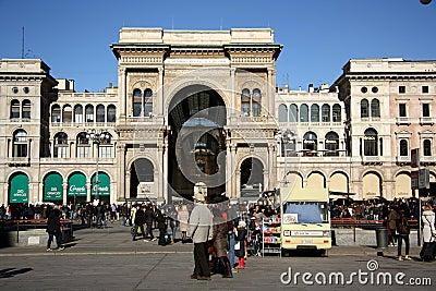 Galleria Vittorio Emanuele II in Milan Editorial Stock Image