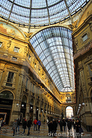 Galleria Vittorio Emanuele in Milan, Italy Editorial Stock Image