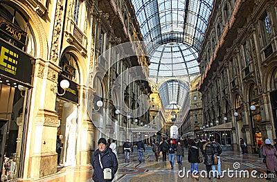 Galleria Vittorio Emanuele shopping Center in Milan Editorial Photo