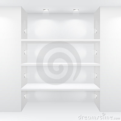 Free Gallery Interior With Empty Shelves Royalty Free Stock Photography - 20769877