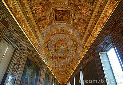 Gallery of Maps. Vatican Museums Editorial Photo