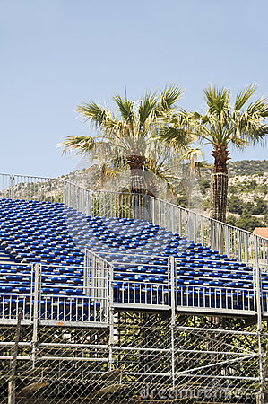 Gallery seating stands for race Monaco Monte Carlo