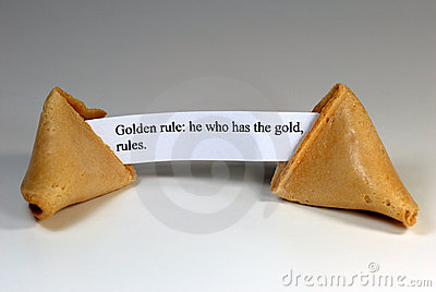 Ironic Golden Rule Fortune Cookie