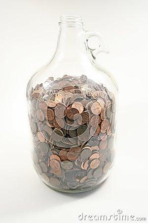 Gallon of Pennies