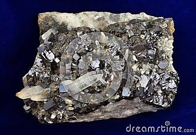 Galène et quartz