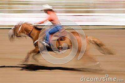 Weinlesestift herauf Cowgirl