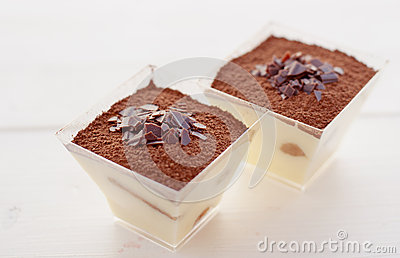 Galsses of tiramisu