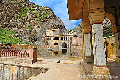 Galtaji Temple Jaipur Editorial Stock Image