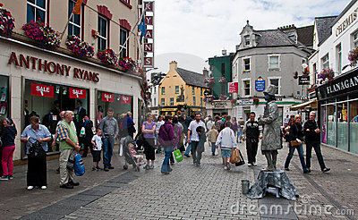 Galway main street Editorial Image