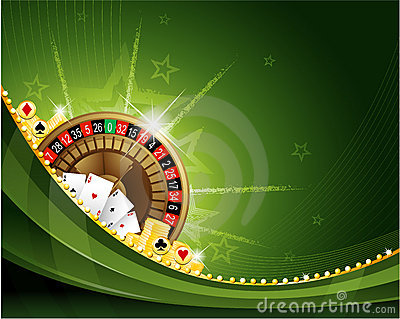 Gambling casino roulette background