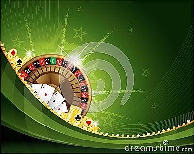 Gambling casino roulette background