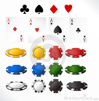 Free Gambling Chip And Cards Royalty Free Stock Photos - 6032618