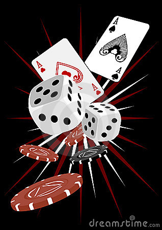 Free Gambling Dice And Cards Royalty Free Stock Photos - 1777138