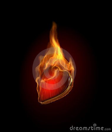 Free Gambling Illustration With Burning Hearts Stock Photography - 10215262