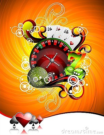 Free Gambling Illustration With Casino Elements Royalty Free Stock Photos - 14368468