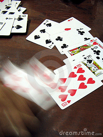 Gambling in motion(hand in motion)