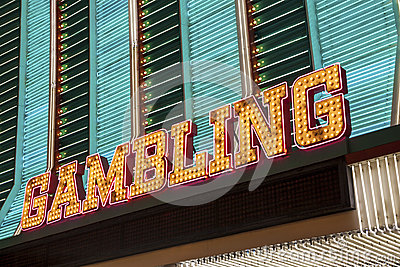 Gambling Sign Editorial Photography