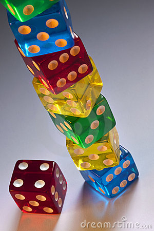 Gambling - Stack of Casino Dice