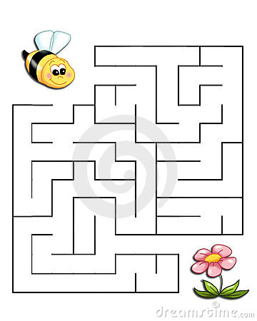 Free Game 19, The Bee Reaches The Flower Royalty Free Stock Photography - 14228277