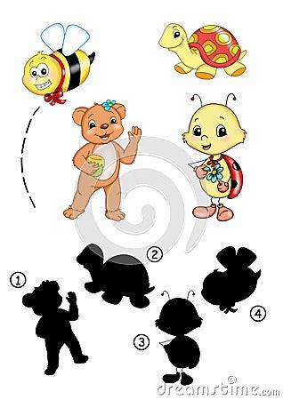 Free Game 39, Shade Animals Royalty Free Stock Photos - 15126488
