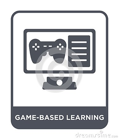 game-based learning icon in trendy design style. game-based learning icon isolated on white background. game-based learning vector Vector Illustration