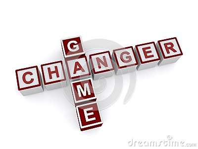 Game Changer Words on Blocks Stock Photo
