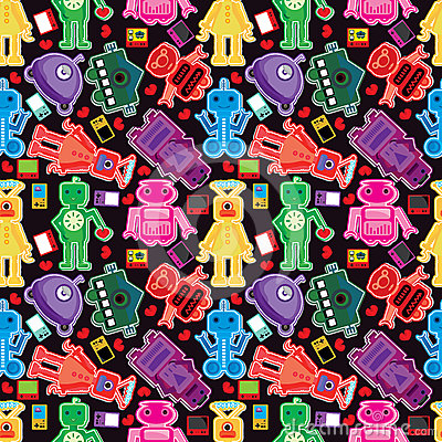 Game Character Seamless Pattern_eps