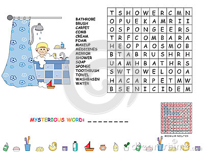 find words with these letters game for children stock illustration image 54036127 16637